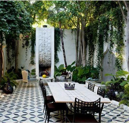 exterior patio, spanish floor tile