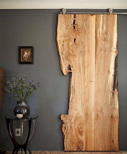 Live edge wood not what come to mind when you hear the for Natural wood doors interior