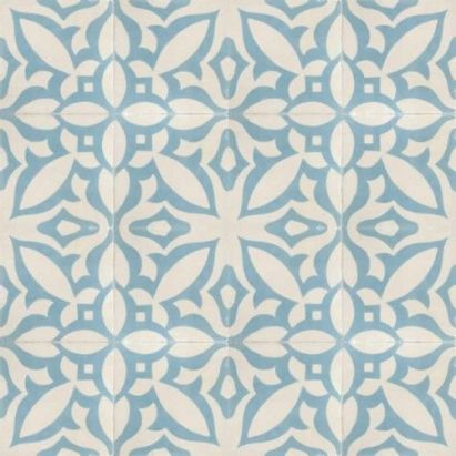 blue and white Moroccan tile
