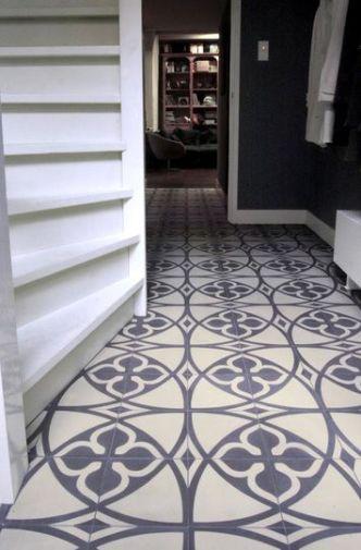 gray and cream floor tile, spanish tile