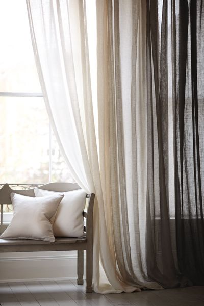 Ombre Curtains, nurtral, cream, gray