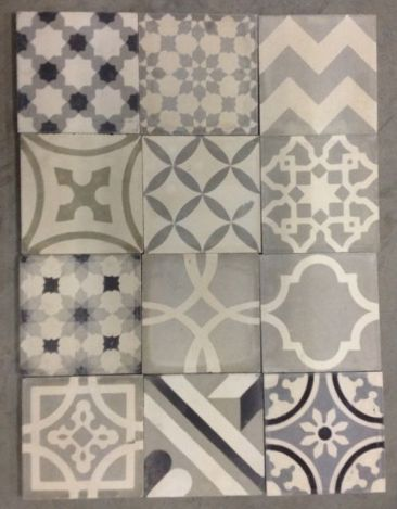 Gray and Cream Pattern Tile