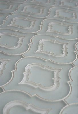 Glass Tile, moroccan pattern tile