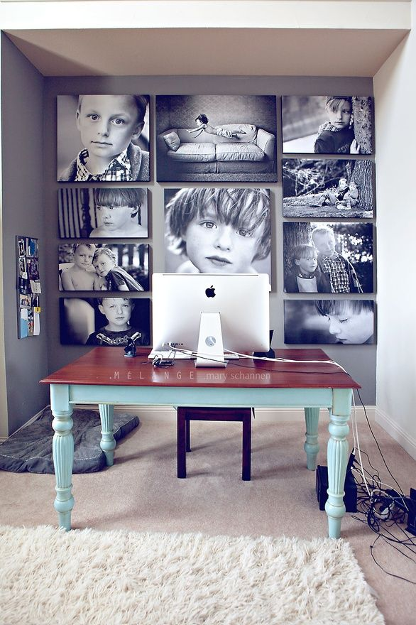 Photos on Canvas, Black and White, Office