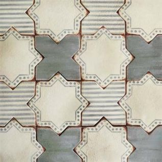 green and white, moroccan tile, star tile