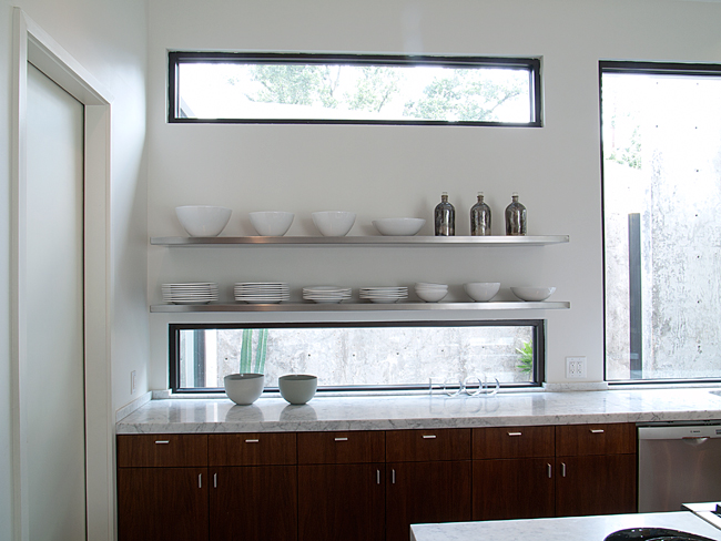 Kitchen, Modern, White Counter top, Window, Horizontal, Contemporary