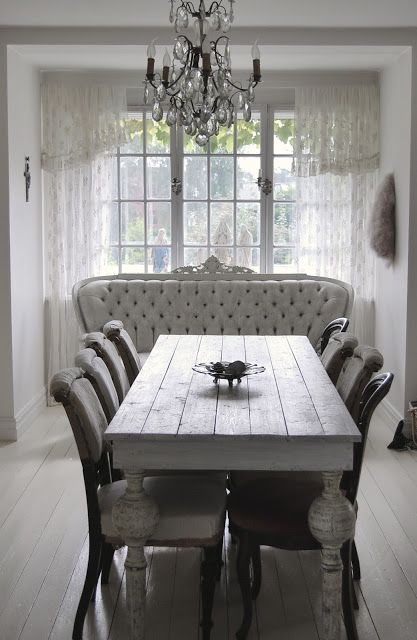 Dining Room, Shabby Chic, Classic, Beautiful