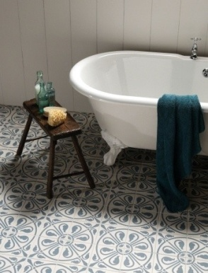 blue and white spanish tile