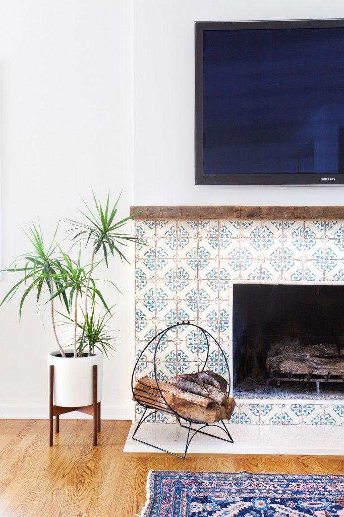 Spanish fireplace tile, pattern tile