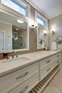 Bathroom, Framed Mirrors, Windows, Vanity