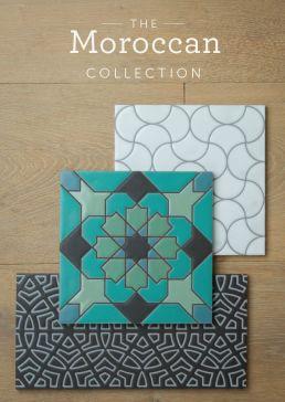 Moroccan Tile, Ceramic, Bule and Teal