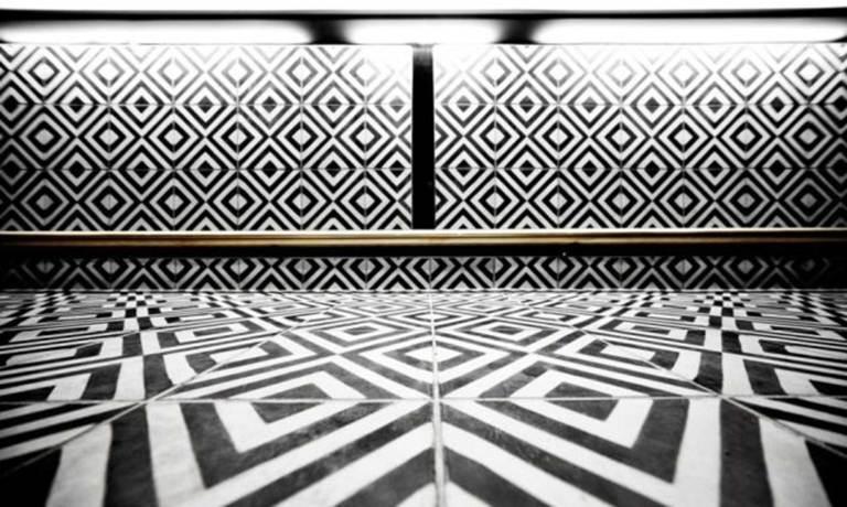 black and white tile, hotel tile, pattern tile