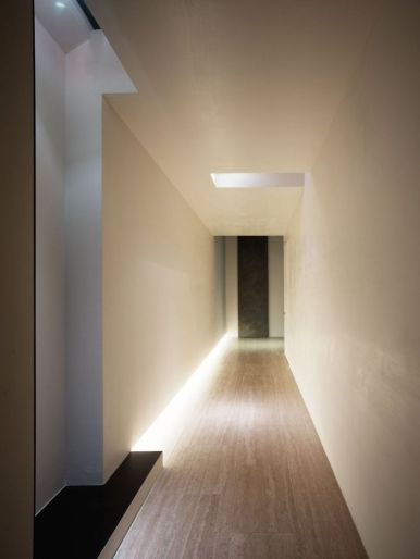 Hall, Modern Architecture, Baseboard, Lighting