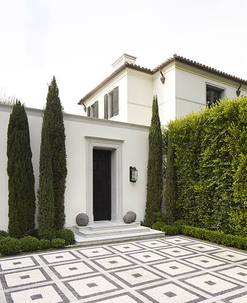 exterior tile, pattern, gray and white
