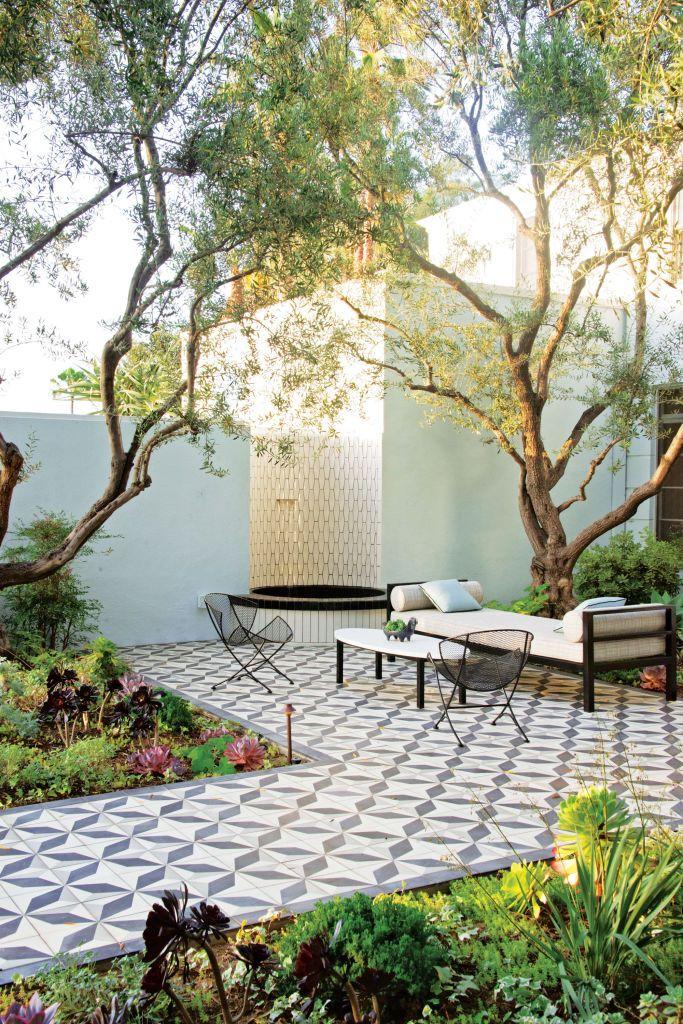 patio spanish tile flooring exterior