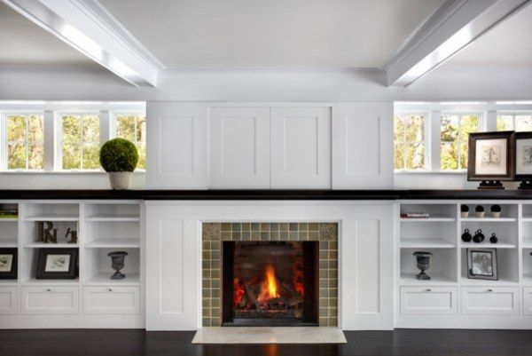 fireplace disguise with panels