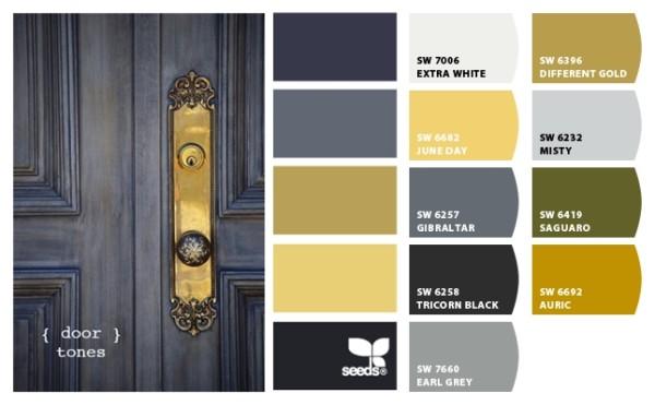 black and gold, paint, door, hardware
