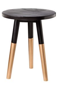 side table , Target, black and gold, paint, DYI